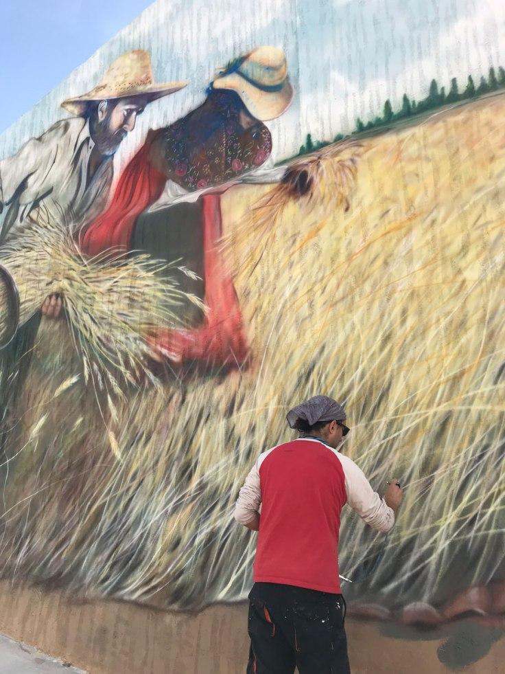 Nano Arribas Lázaro Mural Villalba