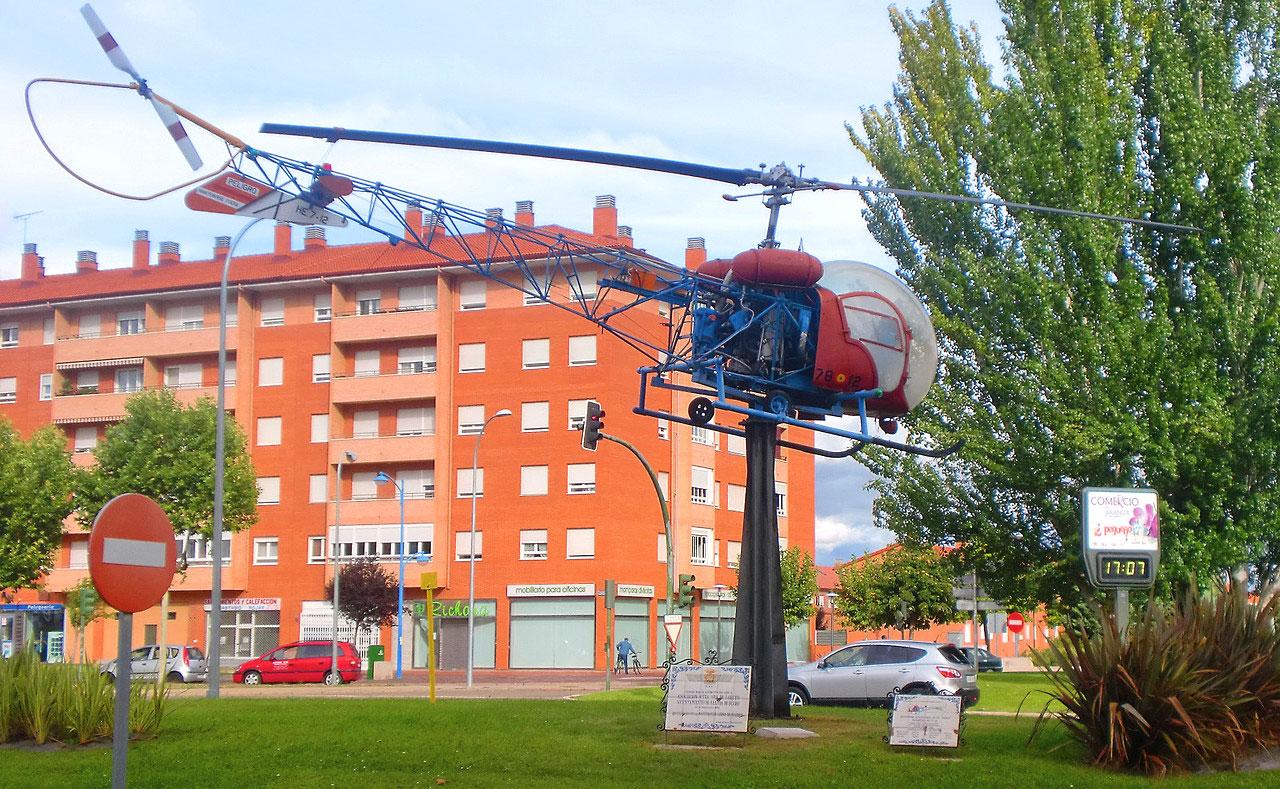 Helicóptero Rotonda Aranda de Duero